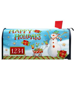Holiday Snowman Christmas Mailbox Cover