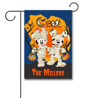Personalized Mickey Mouse and Minnie Mouse Halloween Garden Disney Flag
