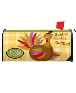Personalized Thanksgiving Turkey Mailbox Cover