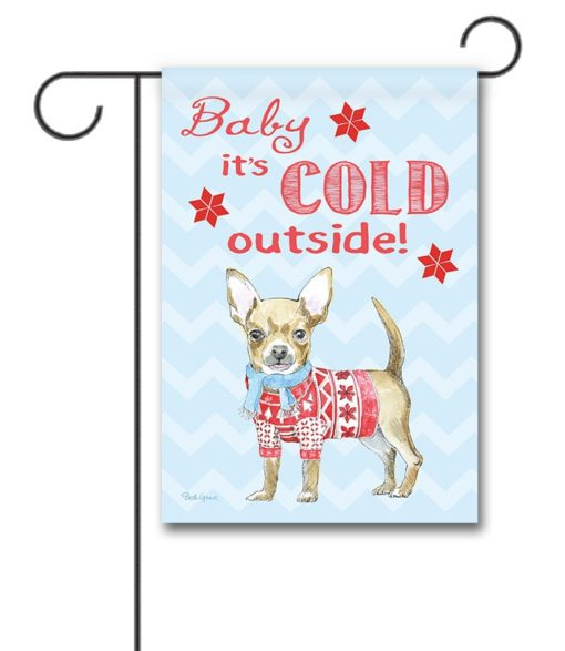 Winter Sweater Chihuahua Garden Flag