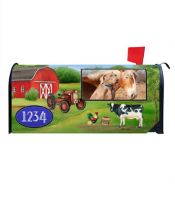 Farm Welcome Photo Mailbox Cover