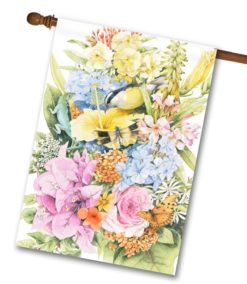 Spring Flowers Bouquet House Flag