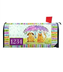 Dog and Cat Kindness Mailbox Cover