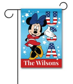 Personalized USA Minnie Mouse Garden Patriotic Disney Flag