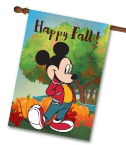 Mickey Mouse Pumpkin Fall House Disney Flag