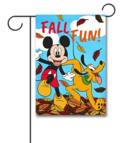 Mickey Mouse and Pluto Fall garden Disney Flag
