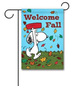 Peanuts Snoopy Welcome Fall Garden Flag