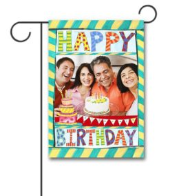 Happy Birthday Photo Garden Flag
