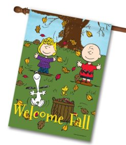PNT2551 Peanuts Welcome Fall House Flag