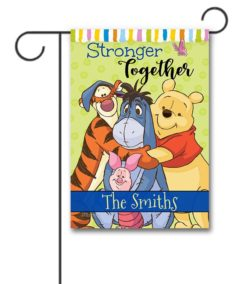 DIS2084 Personalized Together Winnie the Pooh Disney Garden Flag