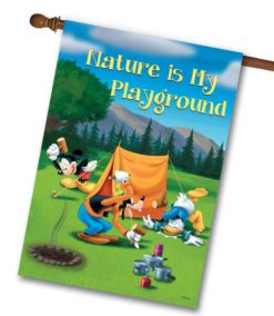 DIS2627 Disney Mickey Mouse Goofy Donald Duck Tent Camping House Flag